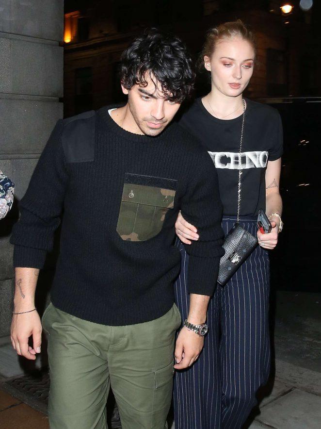 Sophie Turner and Joe Jonas at 34 Restaurant in Mayfair