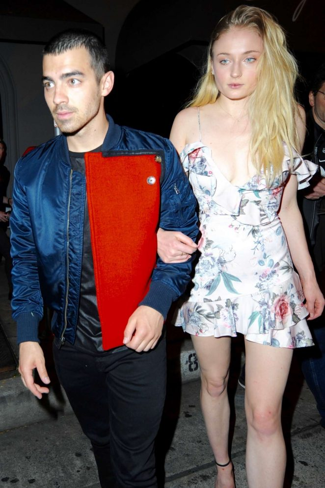 Sophie Turner and Joe Jonas at Craig's restaurant in LA