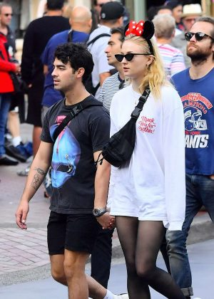 Sophie Turner and Joe Jonas at Disneyland in Anaheim