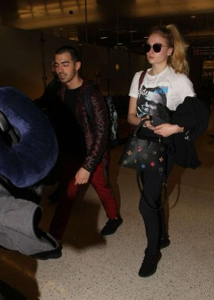 Sophie Turner and Joe Jonas at LAX Airport in Los Angeles