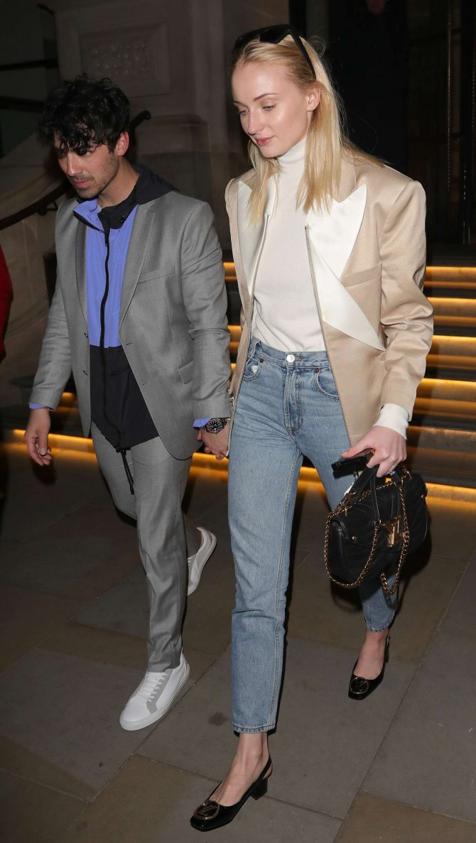 Sophie Turner and Joe Jonas at The Arts Club in London