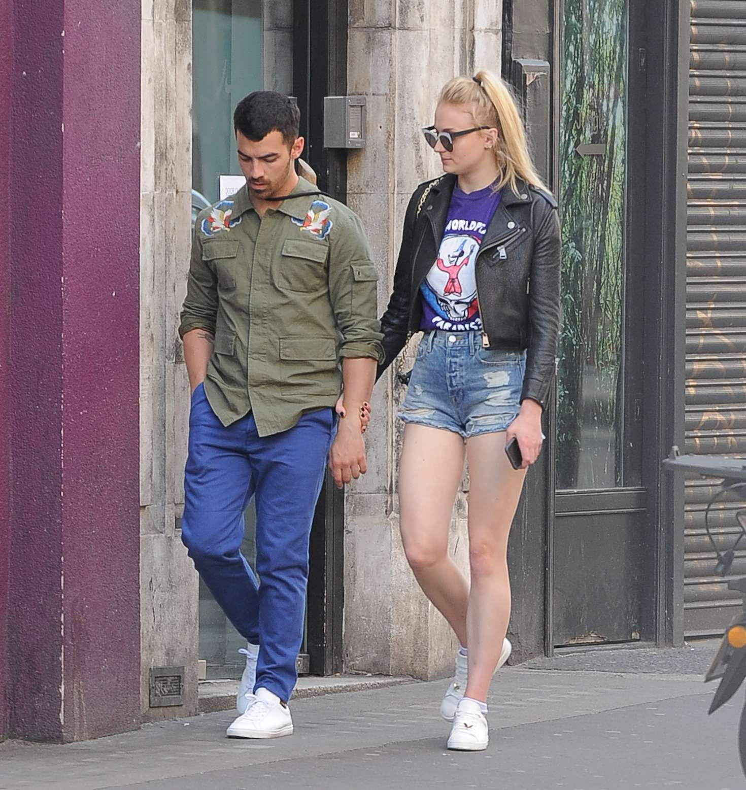 Sophie Turner and Joe Jonas at The Ivy Soho Brasserie in London