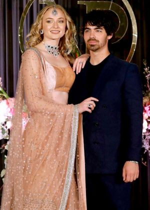 Sophie Turner and Joe Jonas at wedding reception in India