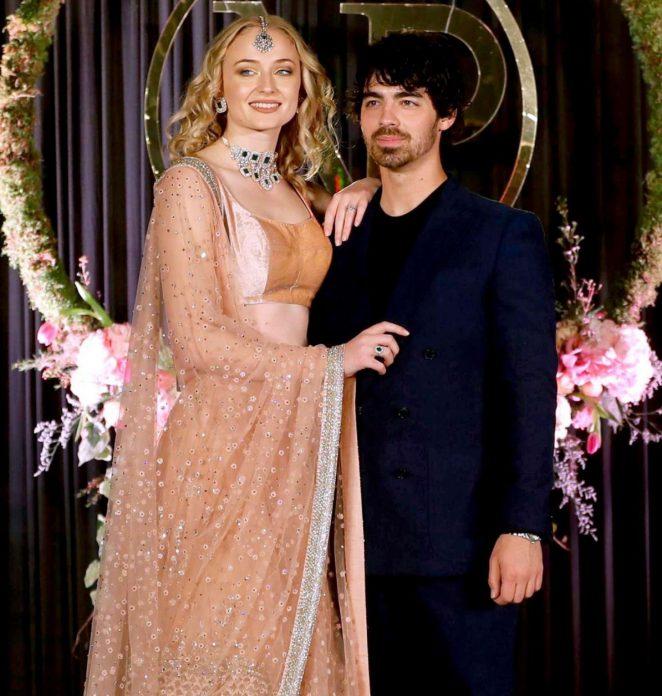 Sophie Turner and Joe Jonas at wedding reception in India