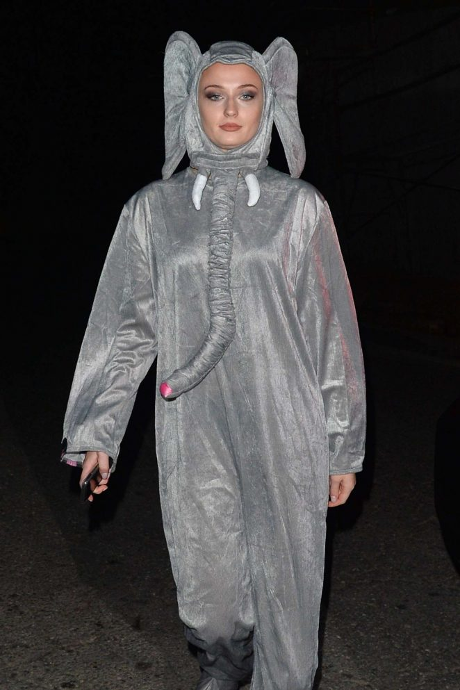 Sophie Turner and Joe Jonas – Attend a Halloween party in Los Angeles