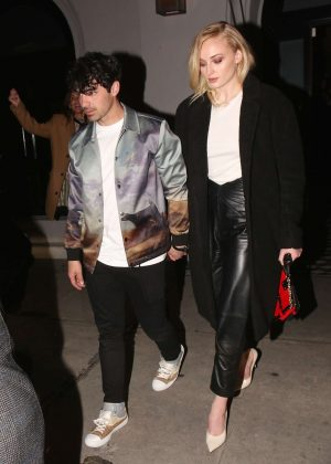 Sophie Turner and Joe Jonas - Exit Craig's in West Hollywood