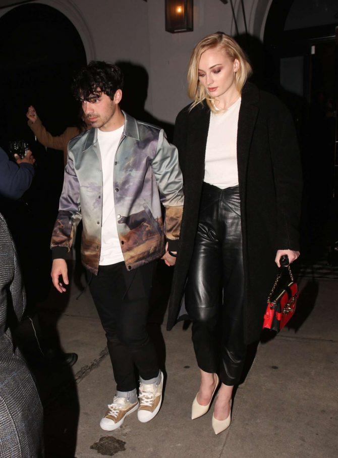 Sophie Turner and Joe Jonas: Exit Craigs in West Hollywood -05