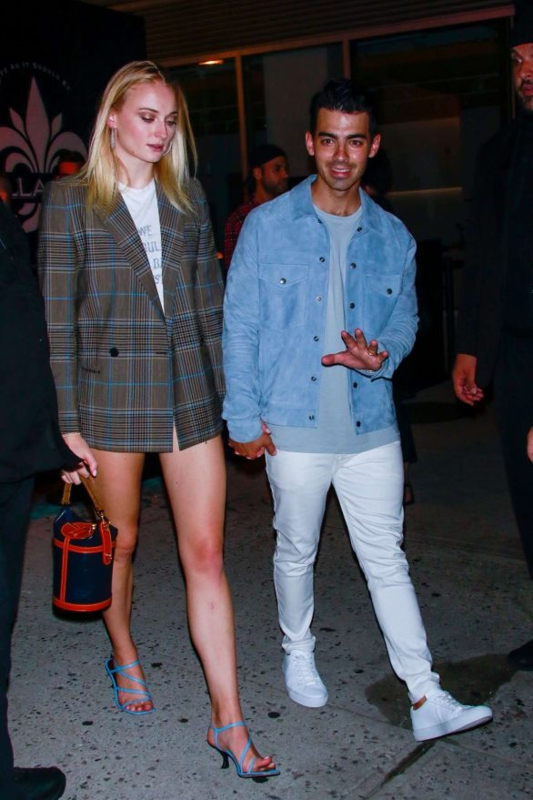 Sophie Turner and Joe Jonas - exit John Varvatos Villa One Tequila Launch Party
