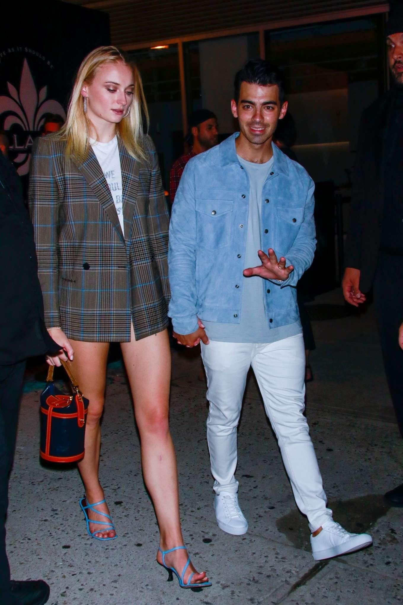 Sophie Turner and Joe Jonas - exit John Varvatos Villa One Tequila Launch Party