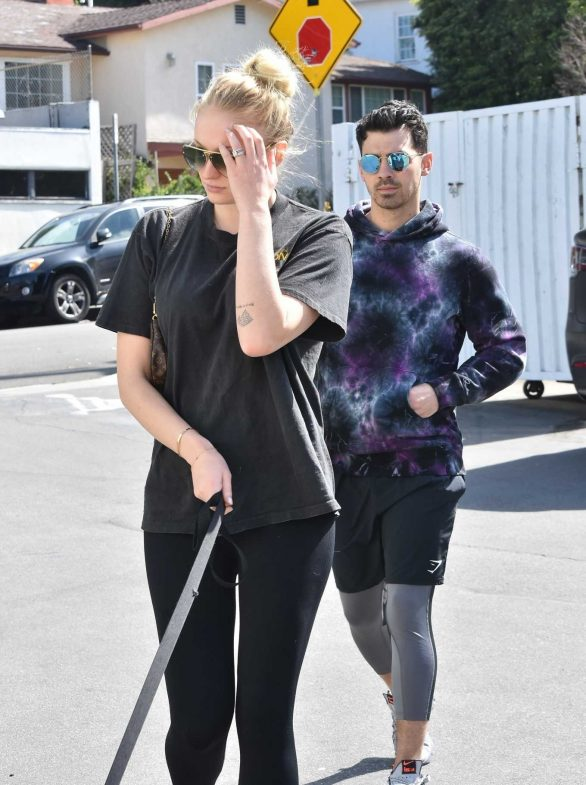 Sophie Turner and Joe Jonas - Go to Petco with their dog in Studio City