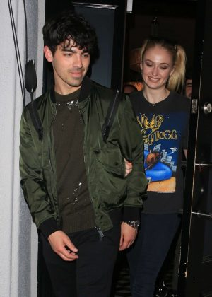 Sophie Turner and Joe Jonas - Have dinner at Craig's in West Hollywood