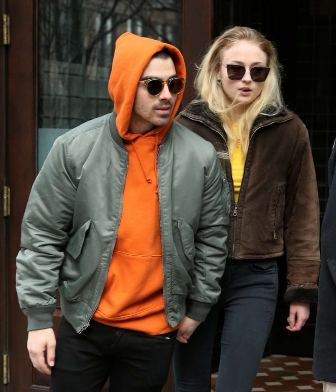 Sophie Turner and Joe Jonas Leaves the Greenwich Hotel in NYC