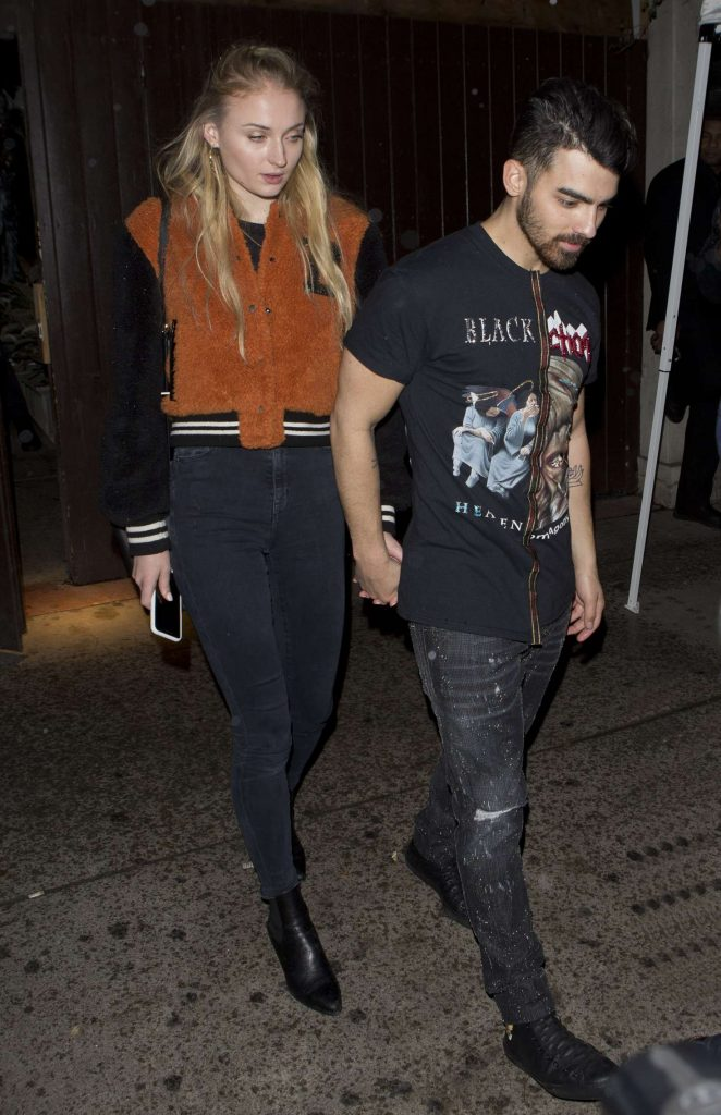 Sophie Turner and Joe Jonas Leaving a Jonas Brothers Private Party in West Hollywood