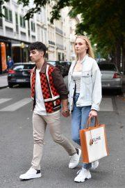 Sophie Turner and Joe Jonas - Leaving Celine Boutique in Paris