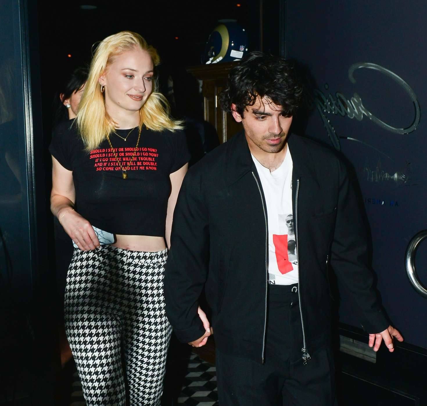 Sophie Turner 2018 : Sophie Turner and Joe Jonas:  Leaving Craigs Restaurant -01