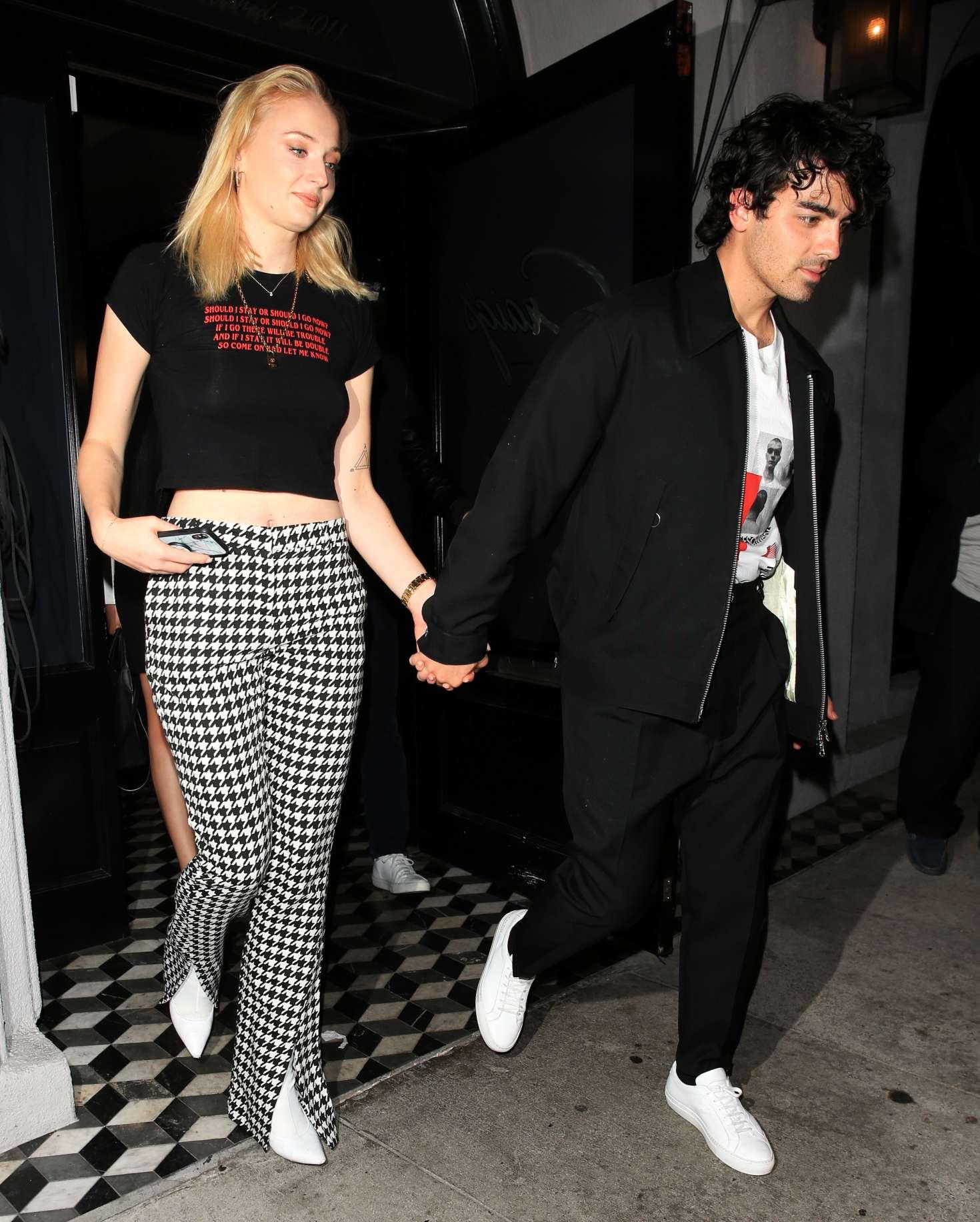 Sophie Turner 2018 : Sophie Turner and Joe Jonas:  Leaving Craigs Restaurant -02
