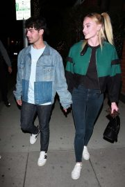 Sophie Turner and Joe Jonas - Leaving Mr Chow in Beverly Hills