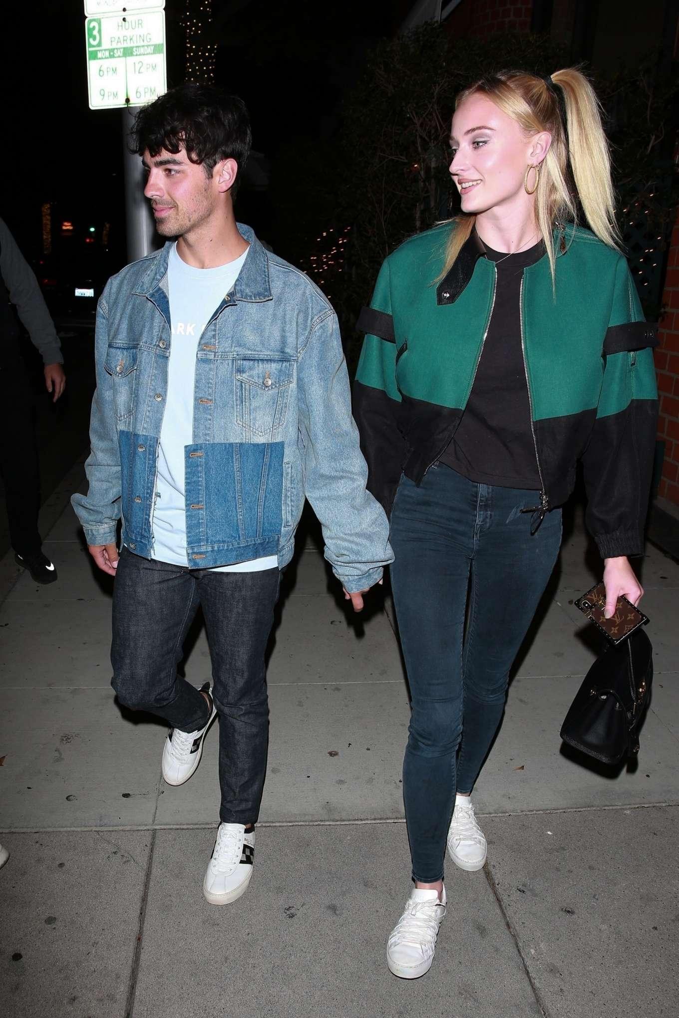Sophie Turner and Joe Jonas - Leaving Mr Chow in Beverly Hills