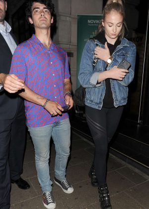 Sophie Turner and Joe Jonas - Leaving Novikov restaurant in Mayfair