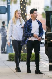 Sophie Turner and Joe Jonas - Leaving their hotel in Beverly Hills