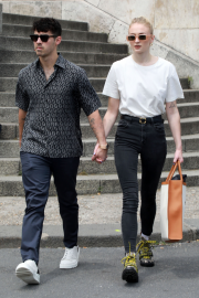 Sophie Turner and Joe Jonas on the River Seine in Paris