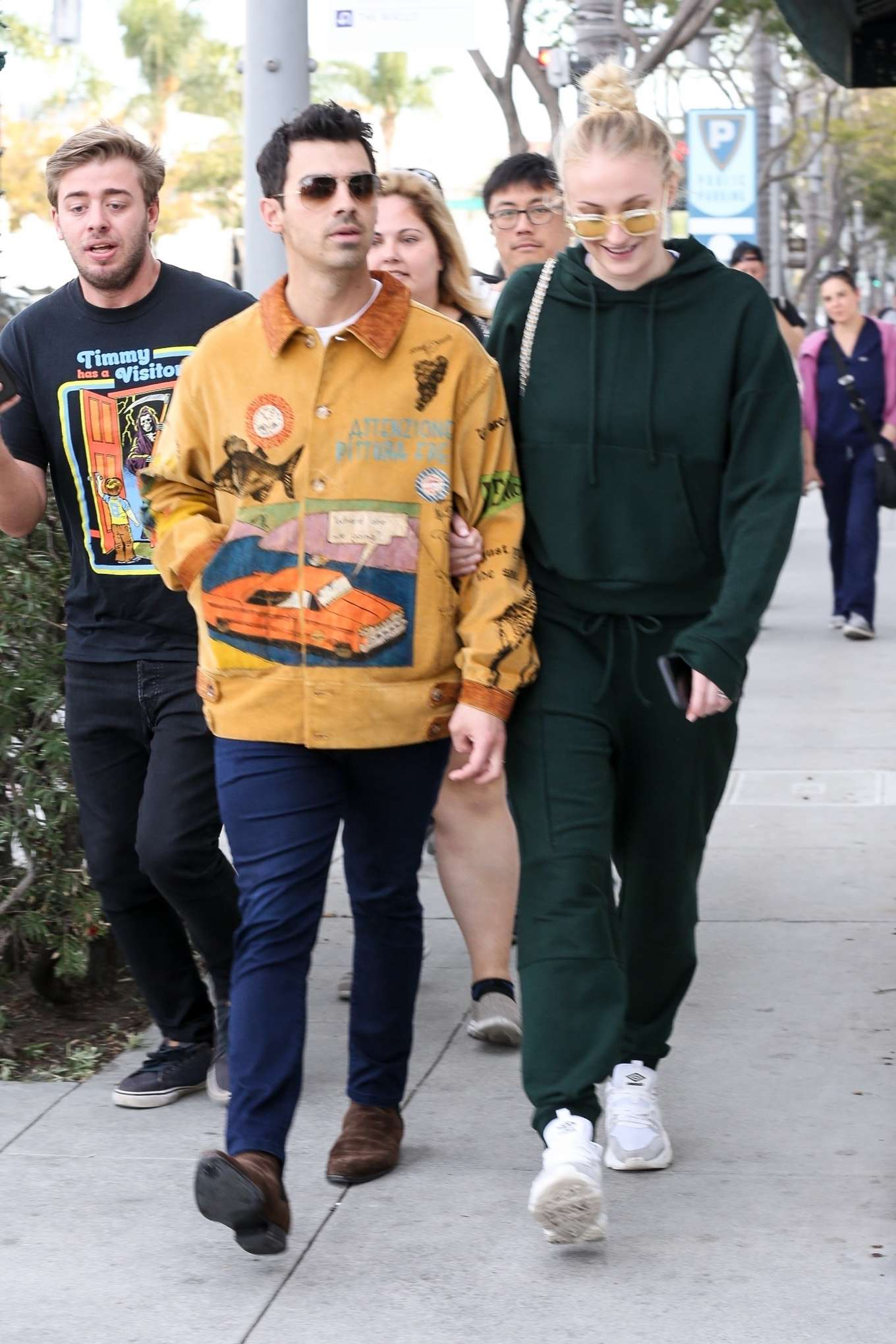 Sophie Turner and Joe Jonas - Out for a lunch at Wally's in Beverly Hills
