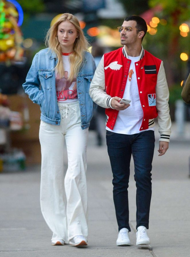 Sophie Turner and Joe Jonas out for an evening walk in NY
