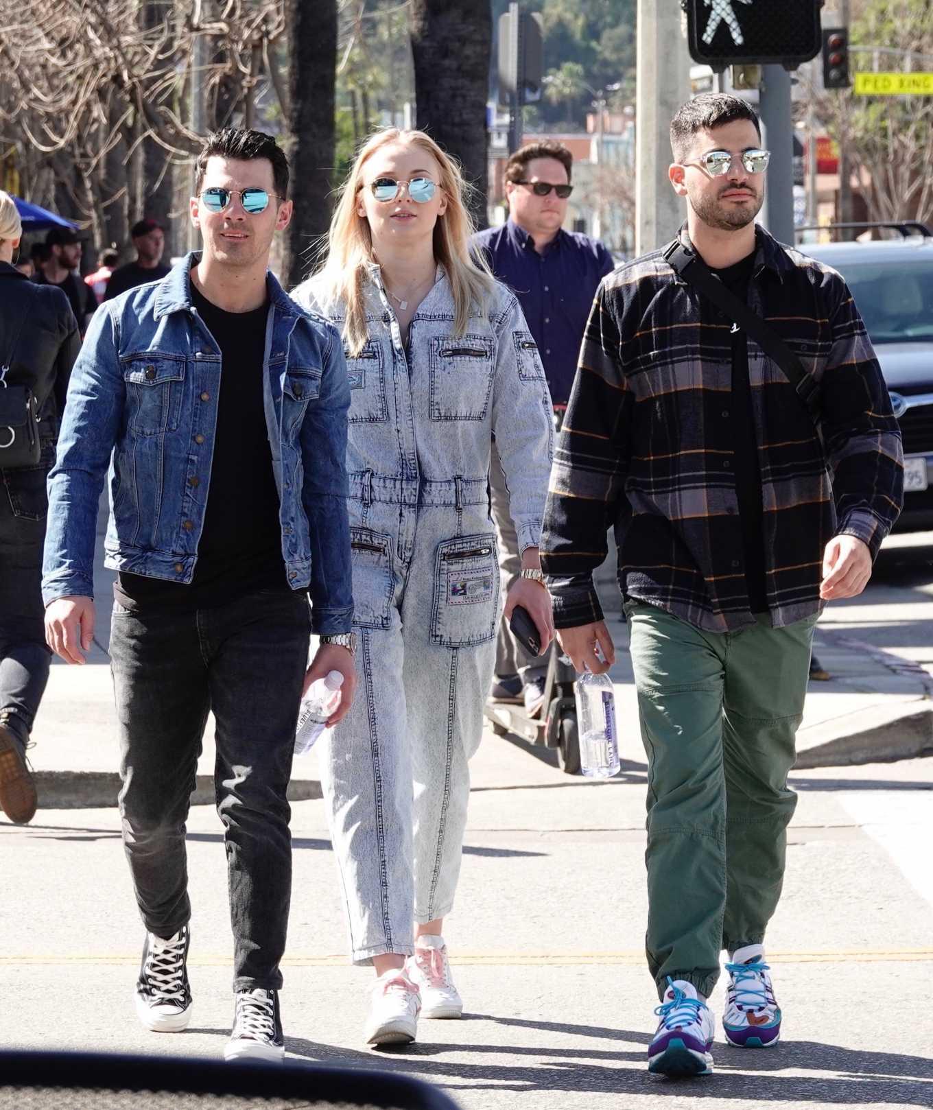 Sophie Turner 2019 : Sophie Turner and Joe Jonas – Out in Los Angeles-05