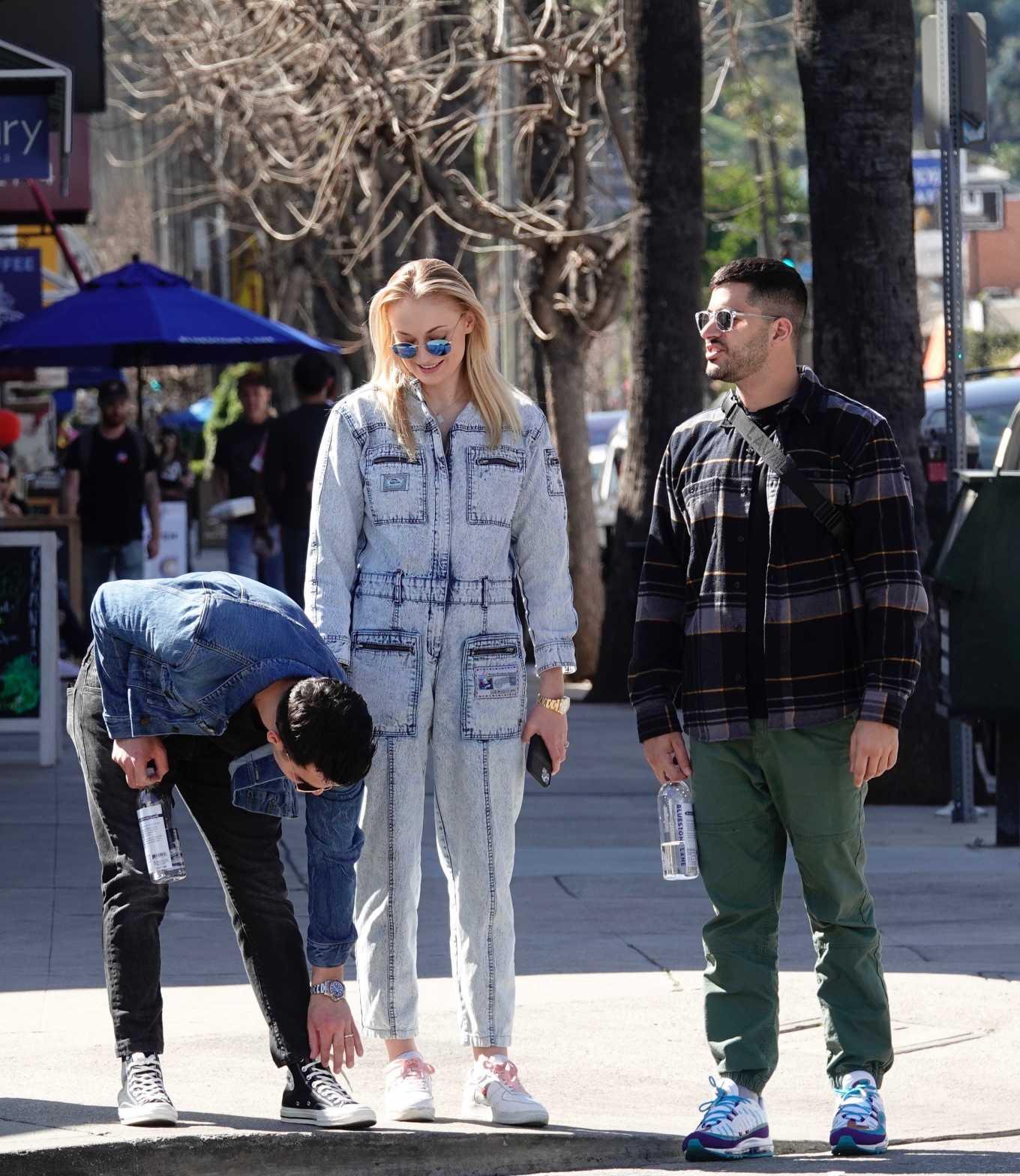 Sophie Turner 2019 : Sophie Turner and Joe Jonas – Out in Los Angeles-10