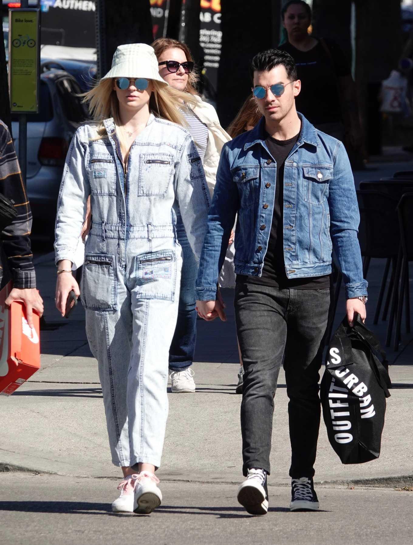 Sophie Turner 2019 : Sophie Turner and Joe Jonas – Out in Los Angeles-14