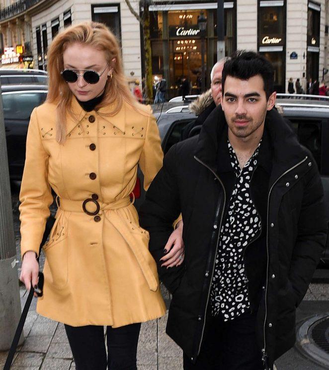 Sophie Turner and Joe Jonas out in Paris