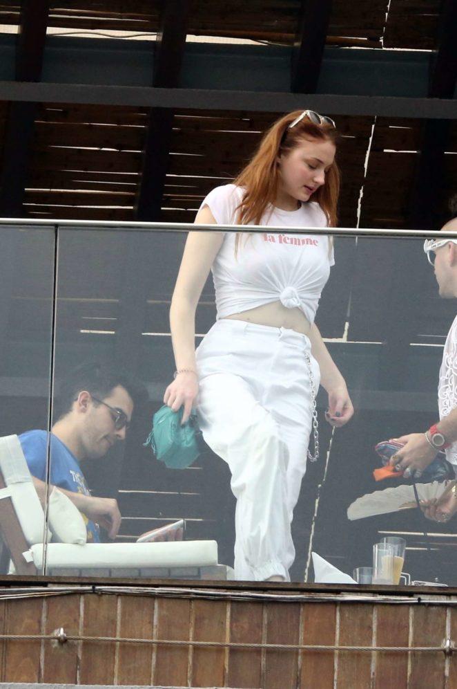 Sophie Turner and Joe Jonas out in Rio de Janeiro