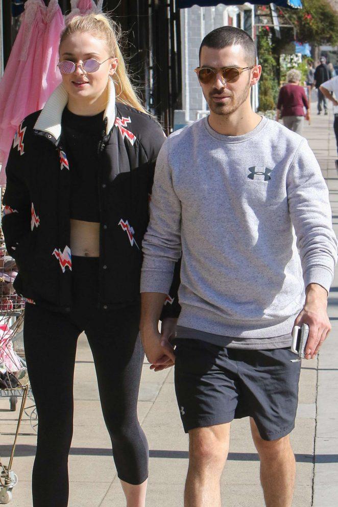 Sophie Turner and Joe Jonas out in Studio City
