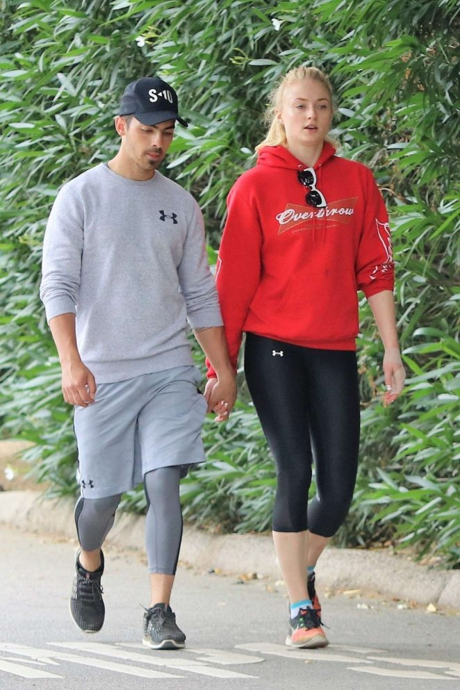Sophie Turner and Joe Jonas Out on a hike in Studio City