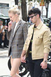 Sophie Turner and Joe Jonas - Shopping at LOEWE store in Paris