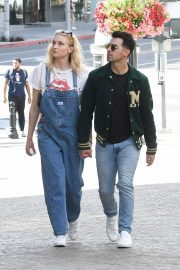Sophie Turner and Joe Jonas - Shopping at Louis Vuitton and Versace in Beverly Hills