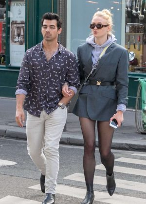 Sophie Turner and Joe Jonas Shopping in Paris