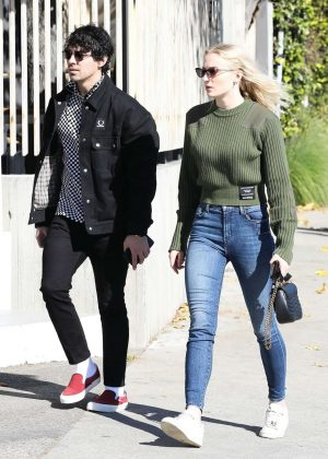 Sophie Turner and Joe Jonas Spotted - House hunting in Los Angeles