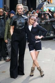 Sophie Turner and Maisie Williams - Leaves 'Good Morning America' studios in New York City