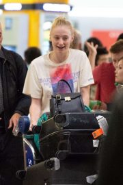 Sophie Turner - Arrives at JFK Airport in NYC