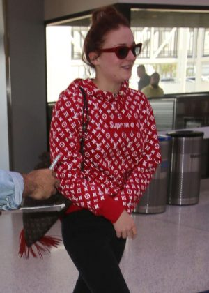 Sophie Turner at LAX Airport in LA