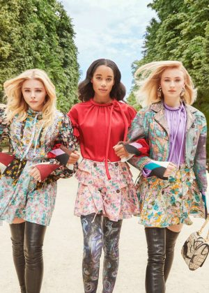 Sophie Turner, Chloe Moretz and Laura Harrier - InStyle: Louis Vuitton's 2018 Charlie's Angels (October 2018)