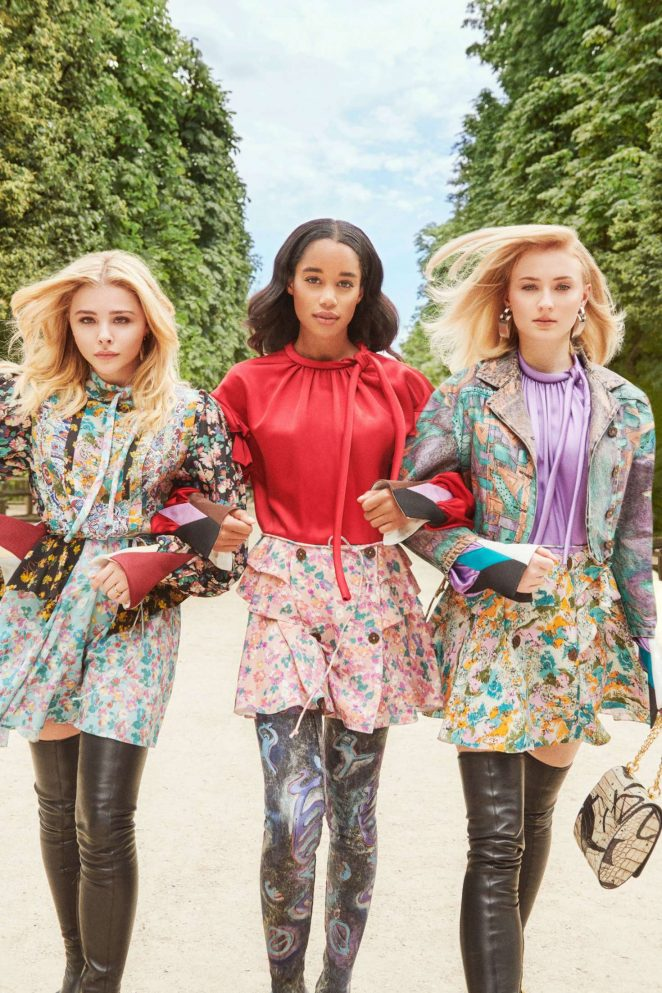 Sophie Turner, Chloe Moretz and Laura Harrier – InStyle: Louis Vuitton's 2018 Charlie's Angels (October 2018)
