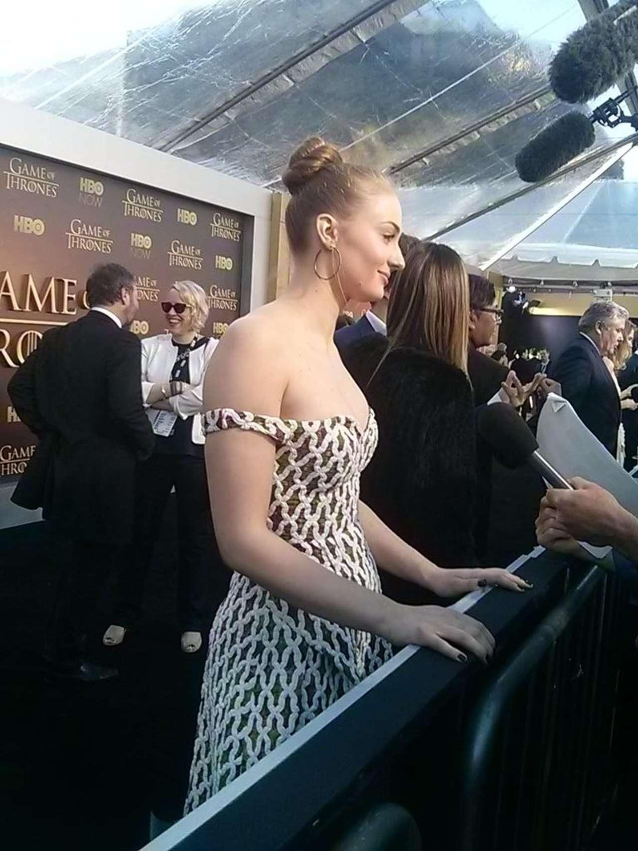 SOPHIE TURNER at Game of Thrones Season 5 World Premiere