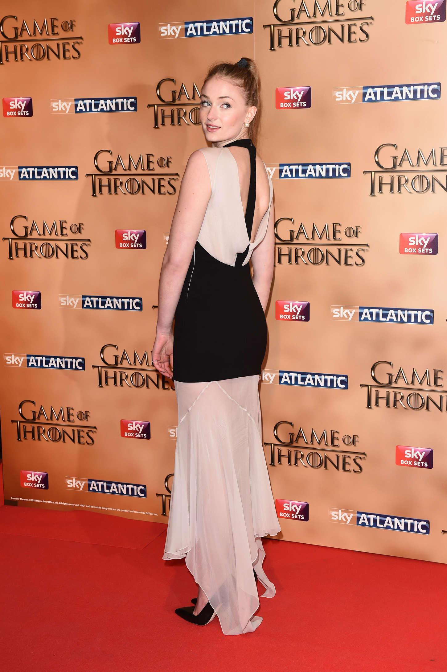 Sophie Turner attends HBOs Game Of Thrones Season 5 San