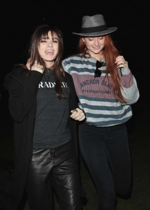 Sophie Turner & Hailee Steinfeld out in Hyde Park