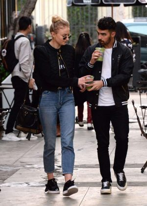 Sophie Turner in Jeans out With Joe Jonas in Beverly Hills