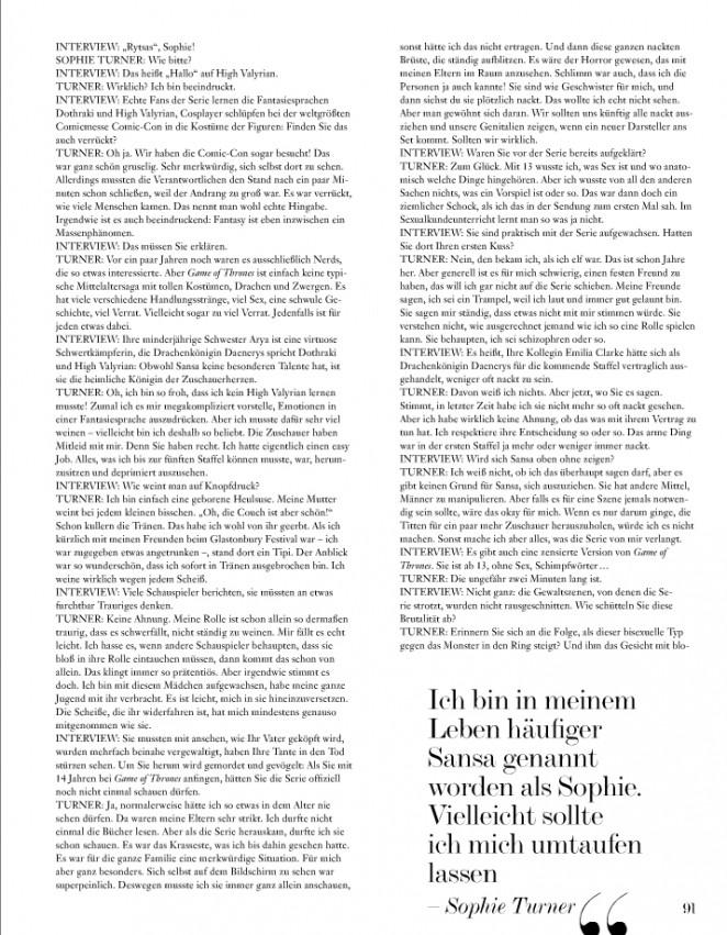 Sophie Turner – Interview Magazine 2015 -13