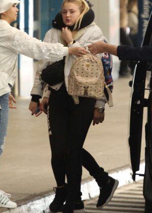Sophie Turner - Jets out of Australia