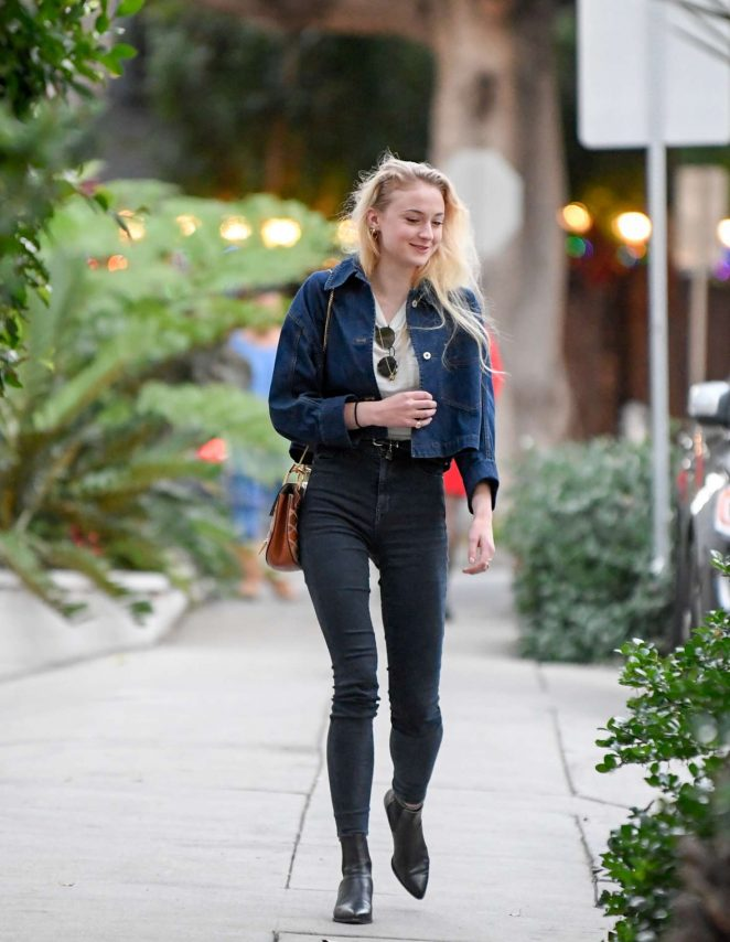 Sophie Turner - Leave a Recording Studio in Beverly Hills